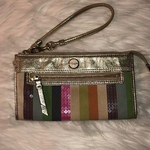 Coach Legacy Sequin Striped Wallet